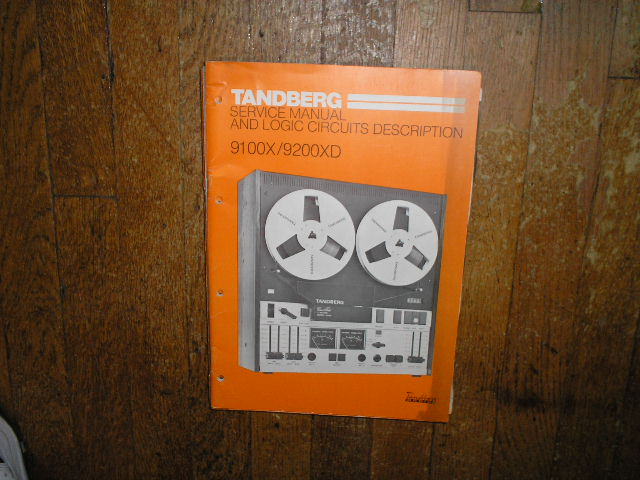 9100X 9200XD Tape Recorder Service Manual  TANDBERG