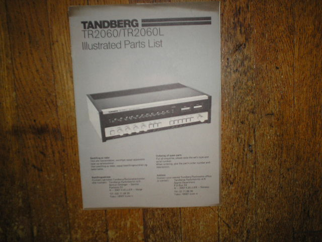 TR-2060 TR-2060L Receiver Service Manual..             Contains parts manual and electronic schematics diagram manual..