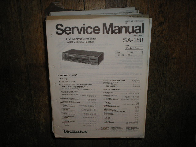 SA-180 Receiver Service Manual