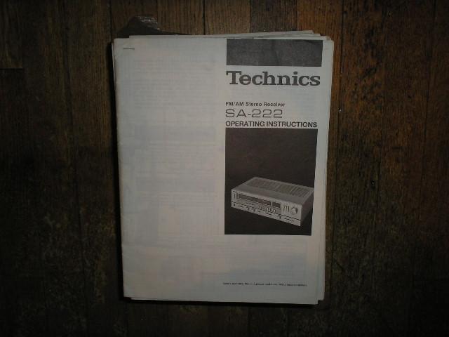 SA-222 Receiver Operator Manual