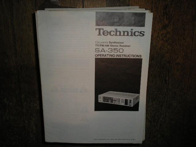 SA-350 Receiver Service Manual