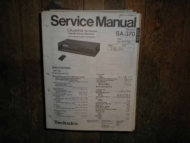 SA-370 Receiver Service Manual