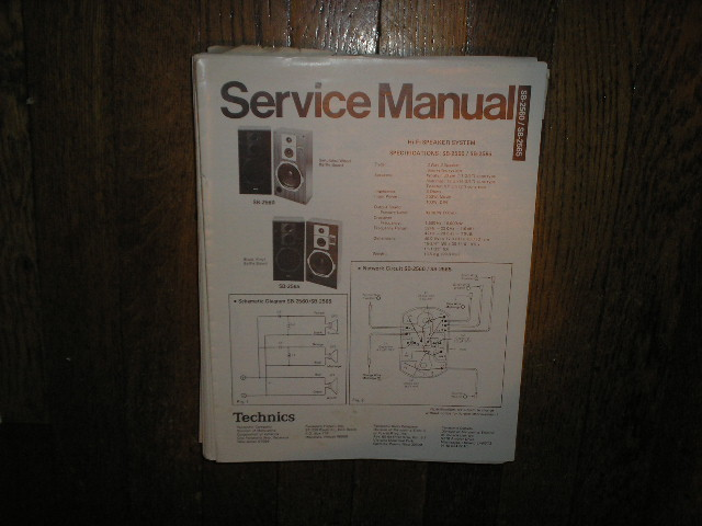 SB-2560 2SB-2565 Speaker System Service Manual