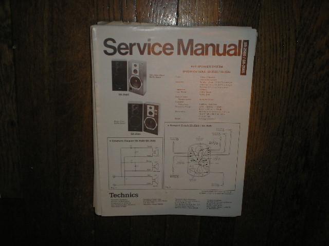 SB-2560 2SB-2565 Speaker System Service Manual