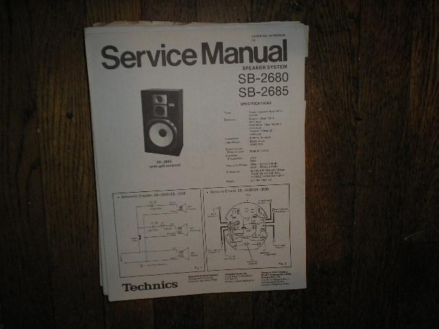 SB-2680 2SB-2685 Speaker System Service Manual