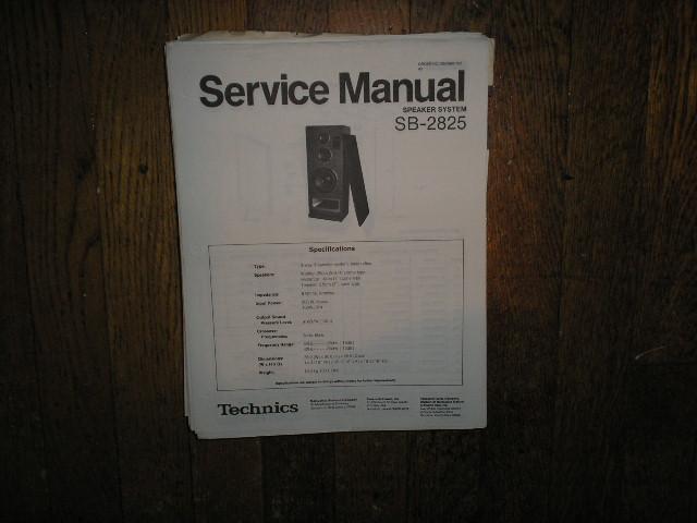 SB-2825 Speaker System Service Manual