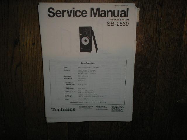 SB-2860 Speaker System Service Manual