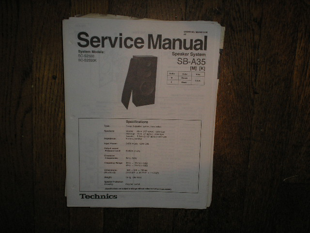 SB-A35 Speaker System Service Manual
