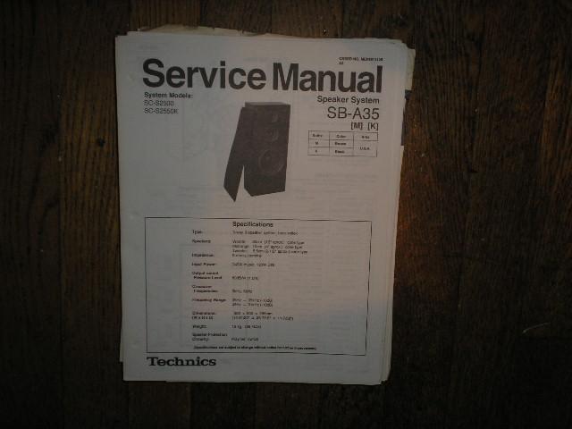 SB-A35 Speaker System Service Manual