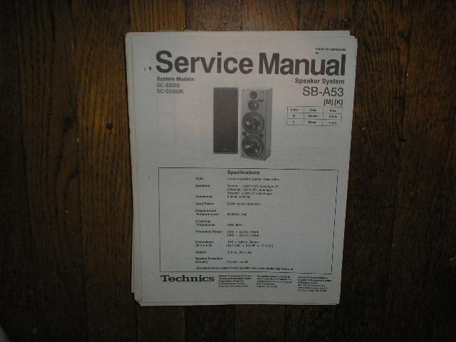 SB-A53 Speaker System Service Manual