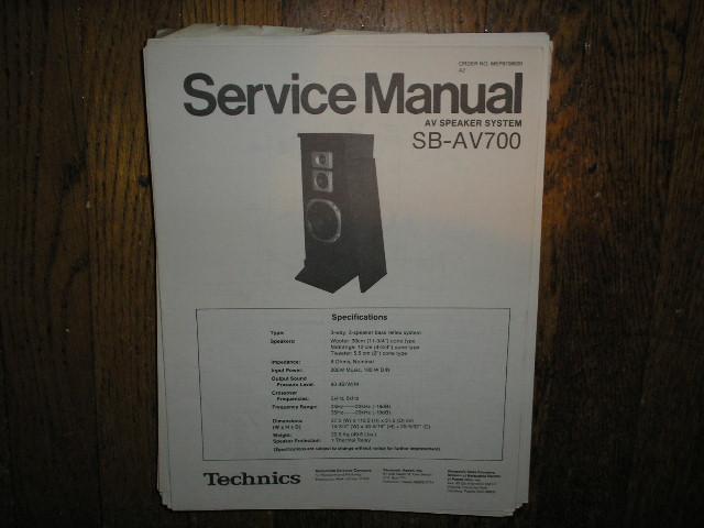 SB-AV700 Speaker System Service Manual