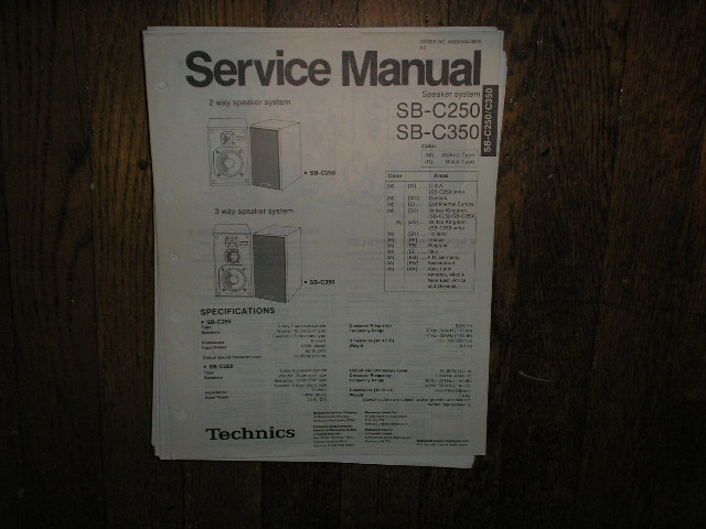SB-C21 Speaker System Service Manual