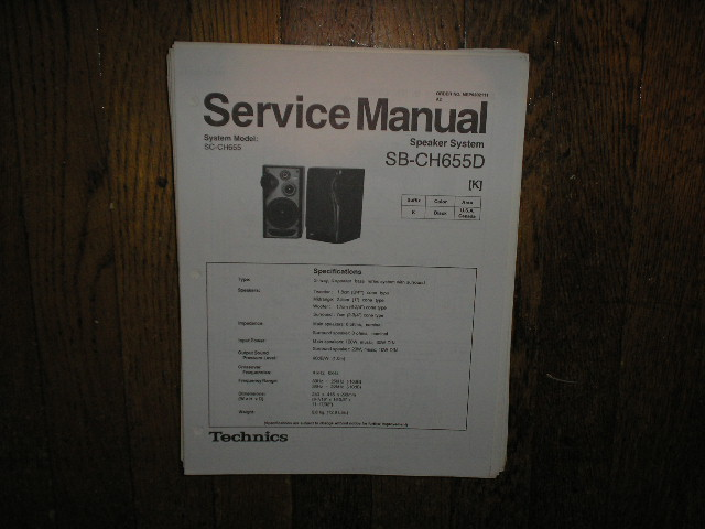 SB-CH655D Speaker System Service Manual