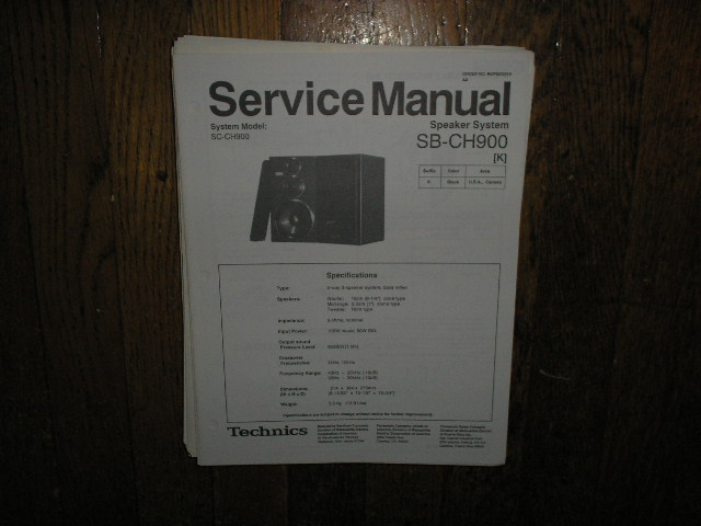 SB-CH900 Speaker System Service Manual