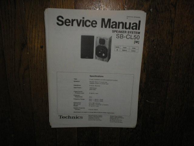 SB-CL50 Speaker System Service Manual