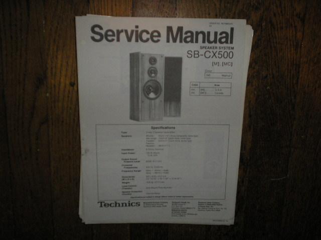 SB-CX-500 Speaker System Service Manual