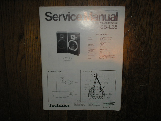 SB-L35 Speaker System Service Manual