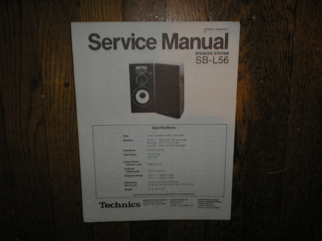 SB-L56 Speaker System Service Manual