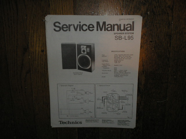 SB-L95 Speaker System Service Manual