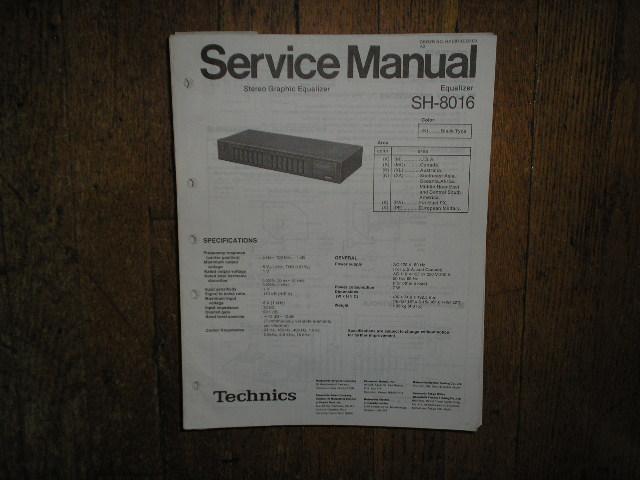 SH-8016 Equalizer Service Manual