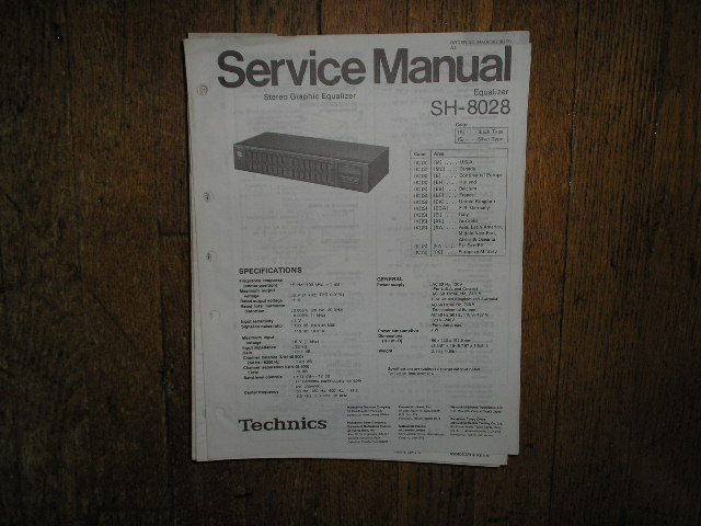 SH-8028 Equalizer Service Manual