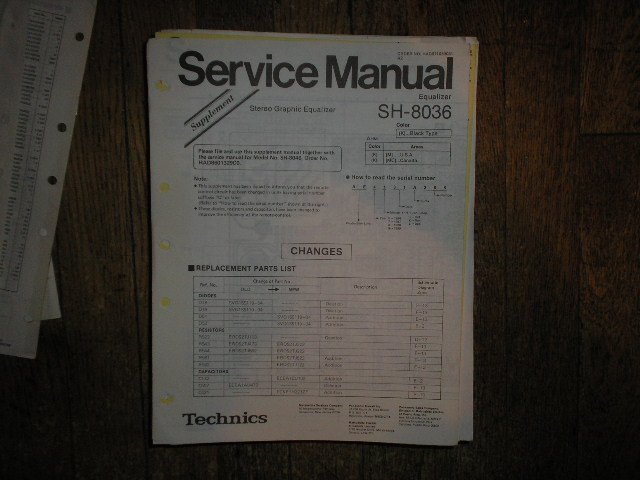 SH-8036 Equalizer Service Manual