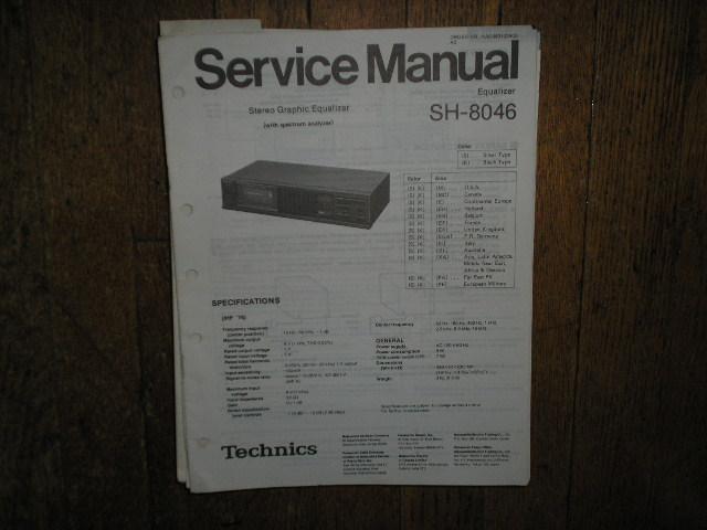 SH-8046 Equalizer Service Manual