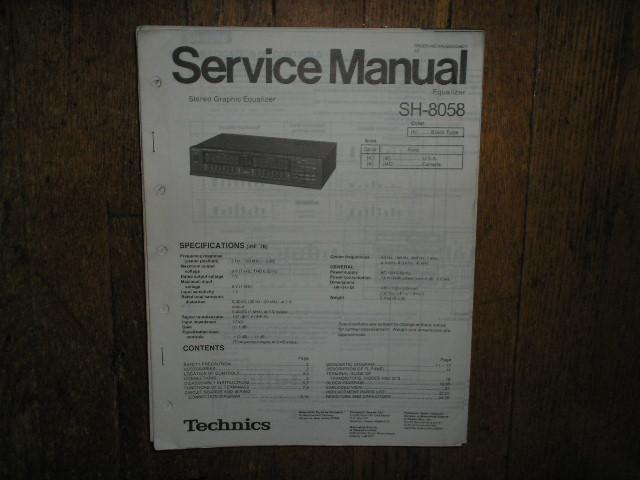 SH-8058 Equalizer Service Manual