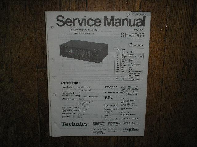 SH-8066 Equalizer Service Manual