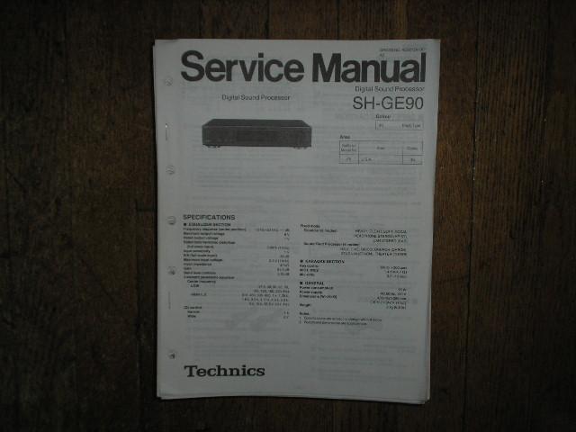 SH-GE90 Equalizer Service Manual