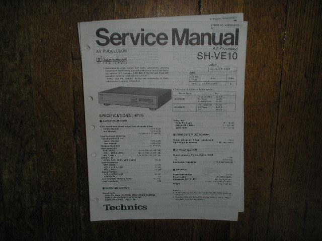 SH-VE10 Equalizer Service Manual