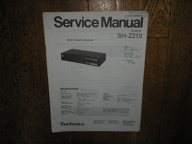 SH-Z210 Equalizer Service Manual