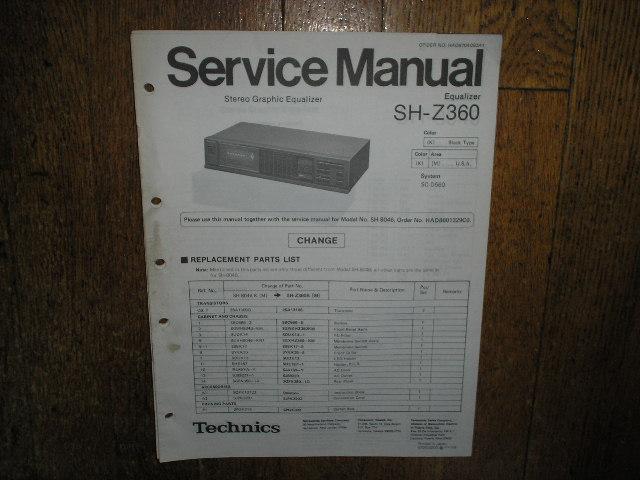 SH-Z360 Equalizer Service Manual