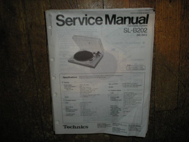 SL-B202 Turntable Service Manual covers M MC versions