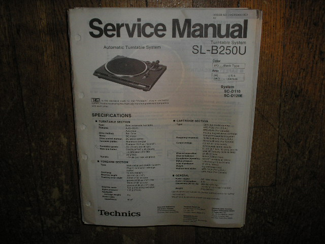 SL-B250U Turntable Service Manual