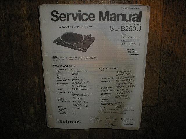 SL-B250U Turntable Service Manual