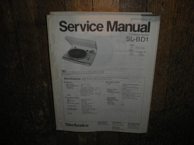 SL-BD1 Turntable Service Manual
