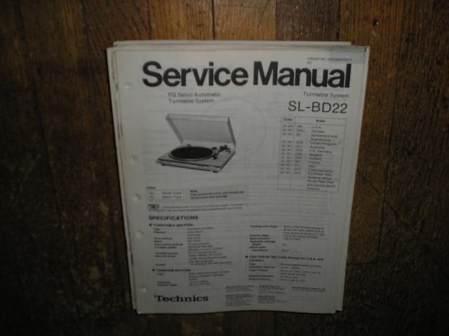 SL-BD22 Turntable Service Manual