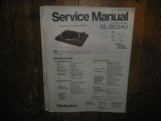 SL-BD24U Turntable Service Manual