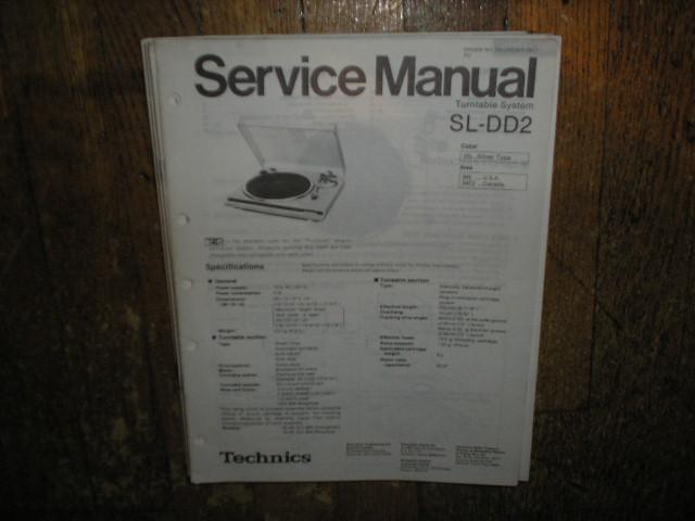 SL-DD2 Turntable Service Manual