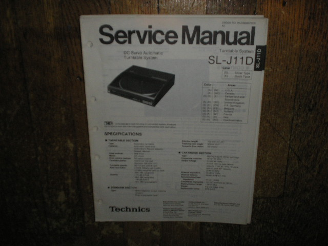 SL-J11D Turntable Service Manual