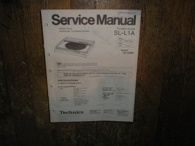 SL-L1A Turntable Service Manual