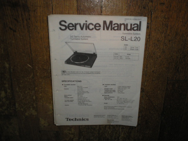 SL-L20 Turntable Service Manual