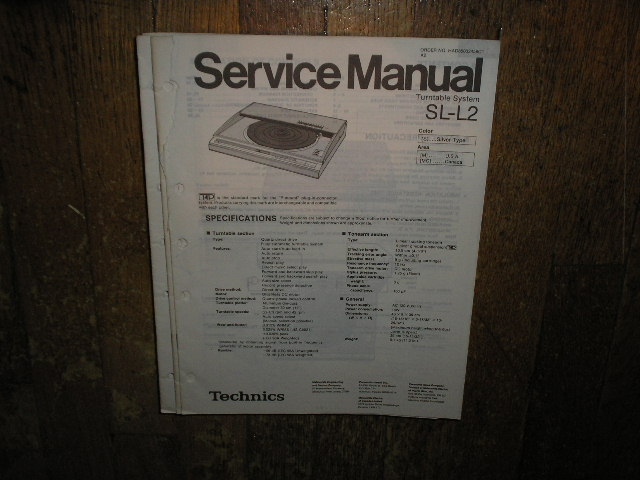 SL-L2 Turntable Service Manual