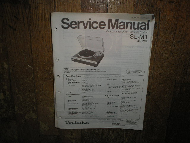 SL-M1 Turntable Service Manual