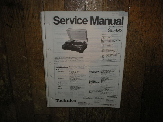 SL-M3 Turntable Service Manual