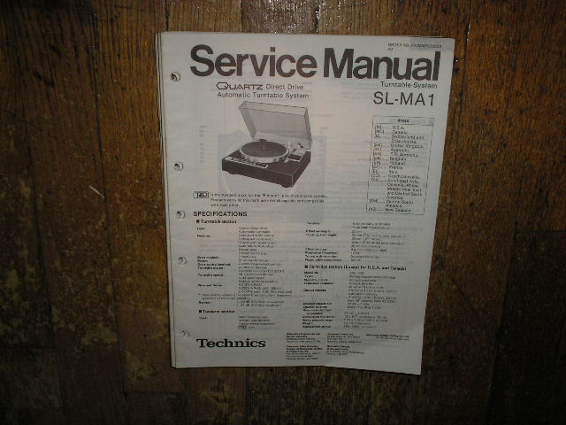 SL-MA1 Turntable Service Manual 1
