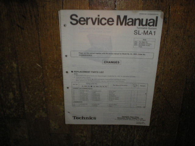 SL-MA1 Turntable Service Manual 2