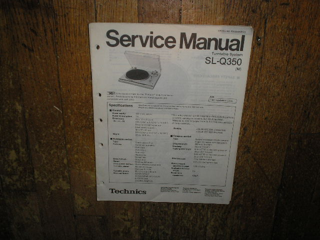 SL-Q350 Turntable Service Manual