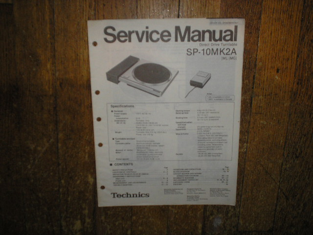 SP-10MK2A Turntable Service Manual